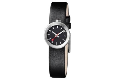 Mondaine 14mm horlogeband zwart mat