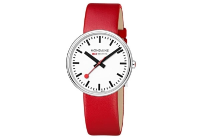 Mondaine 18mm horlogeband rood glans