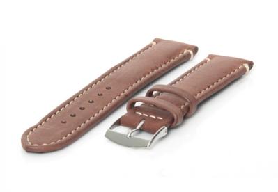Horlogeband 26mm lichtbruin kalfsleer