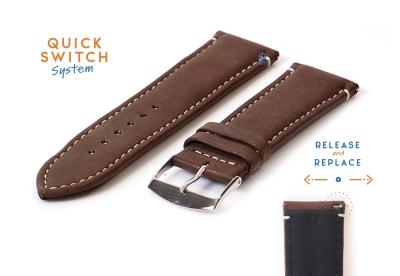 Horlogeband 26mm bruin kalfsleer
