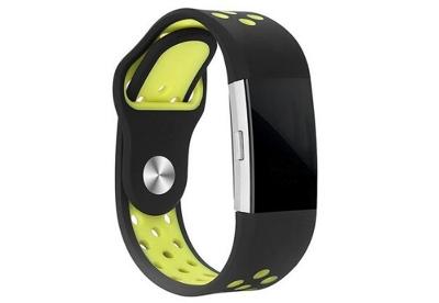 Fitbit Charge 2 sport horlogeband zwart/geel