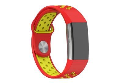 Fitbit Charge 2 sport horlogeband rood/geel