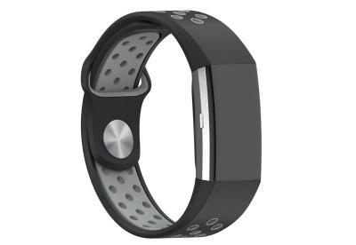 Fitbit Charge 2 sport horlogeband zwart/grijs