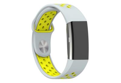 Fitbit Charge 2 sport horlogeband grijs/geel