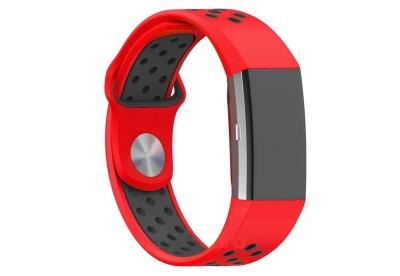 Fitbit Charge 2 sport horlogeband rood/zwart