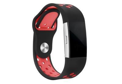 Fitbit Charge 2 sport horlogeband zwart/rood
