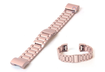 Fitbit Charge 2 horlogeband staal roze