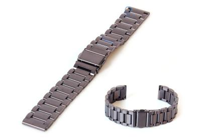 Horlogeband 18mm mat staal gunmetal