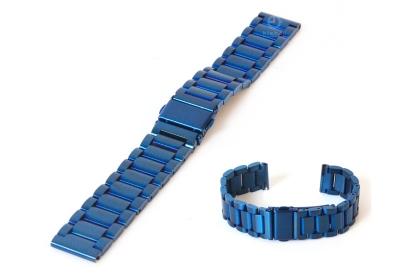 Horlogeband 18mm mat staal blauw