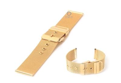 Horlogeband 22mm milanees goud deels gepolijst