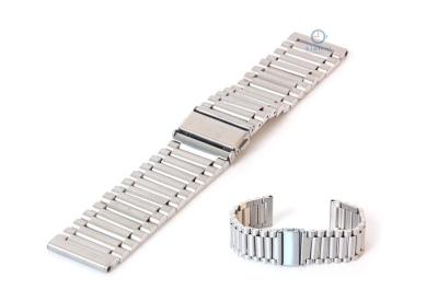 Horlogeband 24mm staal mat zilver