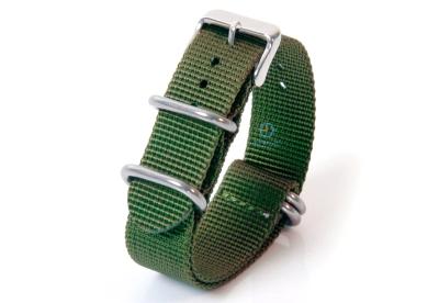 Horlogeband 22mm groen nylon