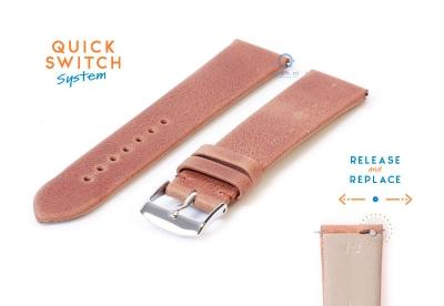 Horlogeband 18mm vintage bruin leer