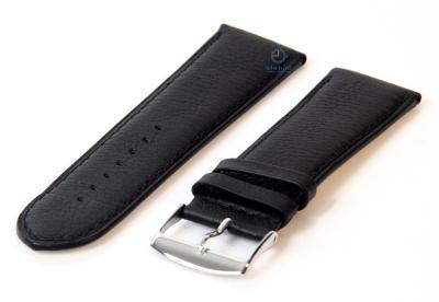 Horlogeband 26mm zwart leer