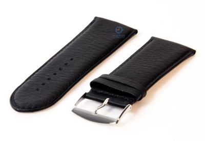 Horlogeband 30mm zwart leer