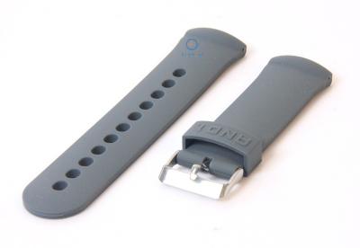 Horlogeband 26mm rubber grijs