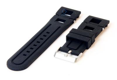Horlogeband 26mm rubber zwart