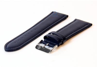 Horlogeband 26mm blauw leer
