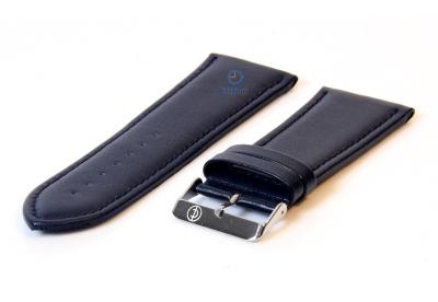 Horlogeband 34mm blauw leer