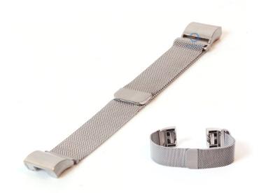 Fitbit Charge 2 horlogeband milanees zilver