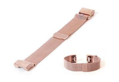 Fitbit Charge 2 horlogeband milanees rose goud