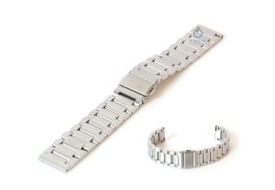 Horlogeband 18mm mat staal zilver
