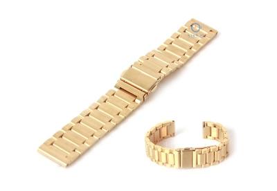 Horlogeband 18mm mat staal goud