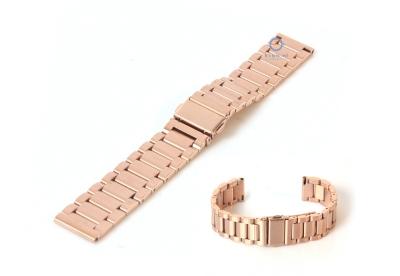 Horlogeband 18mm mat staal rose goud