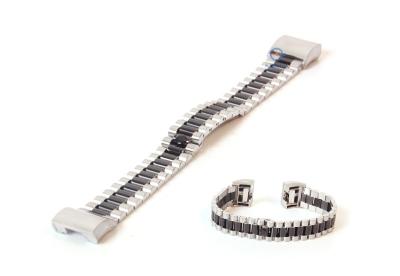 Fitbit Charge 2 horlogeband staal zilver zwart
