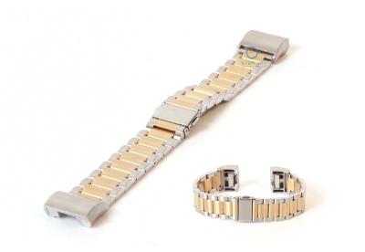 Fitbit Charge 2 horlogeband staal zilver/goud