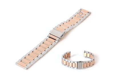 Horlogeband 18mm mat staal mat zilver rose goud