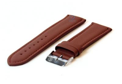 Horlogeband 26mm lichtbruin leer
