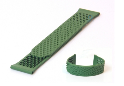 Horlogeband 23mm rubber groen