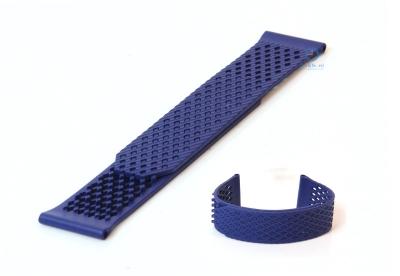 Horlogeband 23mm rubber blauw