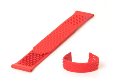 Horlogeband 23mm rubber rood