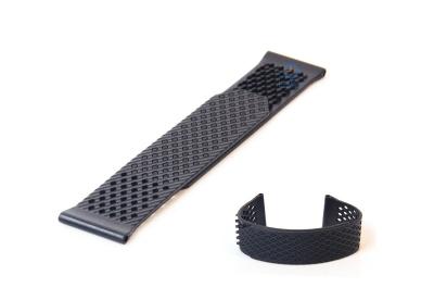 Horlogeband 23mm rubber zwart