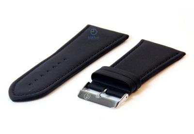 Horlogeband 40mm zwart leer