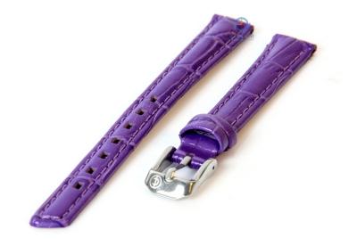 Horlogeband 12mm paars leer croco