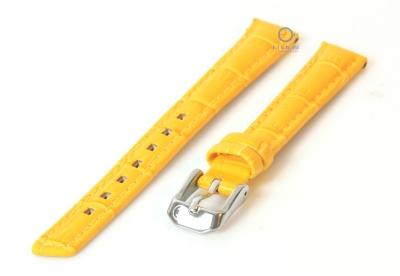 Horlogeband 14mm geel leer croco