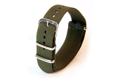 Horlogeband 18mm nylon legergroen