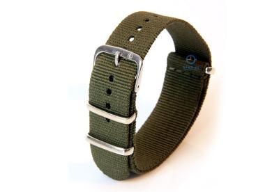 Horlogeband 22mm nylon legergroen
