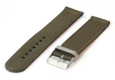 Horlogeband 22mm legergroen nylon
