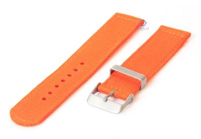 Horlogeband 22mm oranje nylon