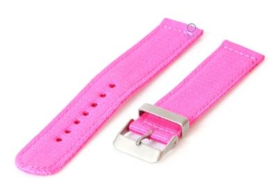 Horlogeband 18mm roze nylon