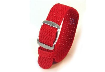 Horlogeband 22mm nylon donkerrood