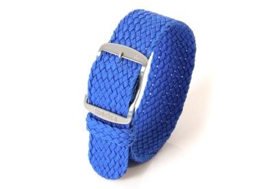 Horlogeband 22mm nylon blauw