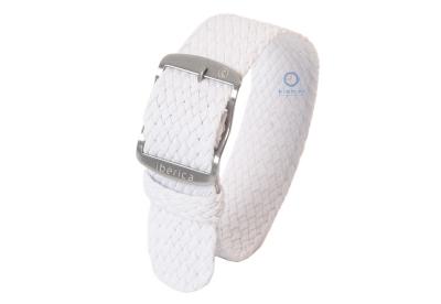Horlogeband 20mm perlon wit