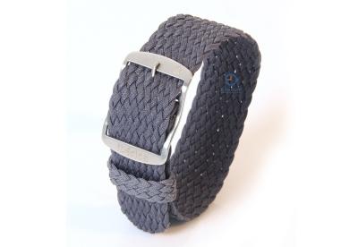 Horlogeband 22mm perlon grijs