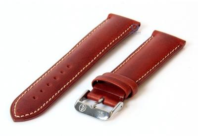Horlogeband 26mm havanabruin leer