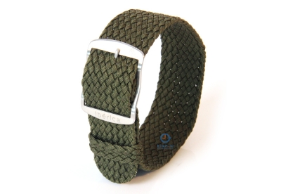 Horlogeband 20mm perlon donkergroen